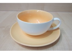 Orange Cup & Saucer Set