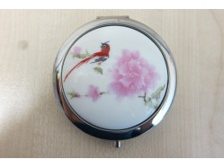 Red Bird Porcelain Compact Mirror