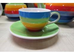 Rainbow Dreams Espresso Cup & Saucer