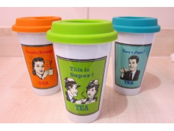 Retro Tea Travel Mug