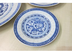 Chinese Rice Pattern Plate 15cm