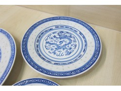 Chinese Rice Pattern Plate 20cm