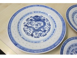 Chinese Rice Pattern Plate 25cm