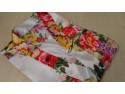 Satin Chinese Floral Dressing Gown One Size