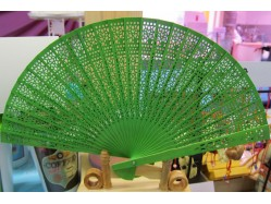 Scented Wooden Hand Fan - Different Colours Available